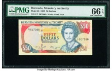 Bermuda Monetary Authority 50 Dollars 1997 Pick 48 PMG Gem Uncirculated 66 EPQ.   HID09801242017  © 2020 Heritage Auctions | All Rights Reserved