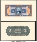 Brazil Thesouro Nacional 2 Mil Reis ND (1919) Pick 14p Front and Back Proofs Crisp Uncirculated. Two POCs are present on each proof.  HID09801242017  ...