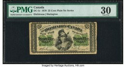 Canada Dominion of Canada 25 Cents 1.3.1870 Pick 8a DC-1c PMG Very Fine 30.   HID09801242017  © 2020 Heritage Auctions | All Rights Reserved
