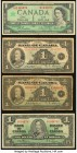 Canada Group Lot of 7 Examples Very Fine (4); Fine (2) Good (1). The two 1937 have the scarcer Osborne-Towers signature combination; the 1954 $1 is a ...