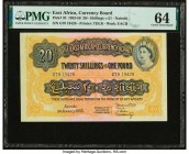 East Africa Currency Board 20 Shillings = 1 Pound 1.1.1955 Pick 35 PMG Choice Uncirculated 64.   HID09801242017  © 2020 Heritage Auctions | All Rights...