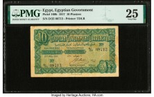Egypt Egyptian Government 10 Piastres 27.5.1917 Pick 160b PMG Very Fine 25.   HID09801242017  © 2020 Heritage Auctions | All Rights Reserved
