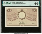 Finland Finlands Bank 100 Markkaa 1909 (ND 1918) Pick 22 PMG Choice Uncirculated 64 EPQ.   HID09801242017  © 2020 Heritage Auctions | All Rights Reser...