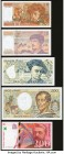 France Group Lot of 11 Examples Crisp Uncirculated. Includes 6 Echantillon test notes.  HID09801242017  © 2020 Heritage Auctions | All Rights Reserved...