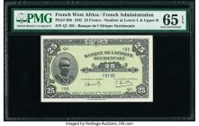 French West Africa Banque de l'Afrique Occidentale 25 Francs 1942 Pick 30b PMG Gem Uncirculated 65 EPQ.   HID09801242017  © 2020 Heritage Auctions | A...