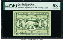 Greenland State Note 5 Kroner ND (1926-52) Pick 15d PMG Choice Uncirculated 63 EPQ.   HID09801242017  © 2020 Heritage Auctions | All Rights Reserved