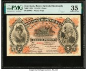 Guatemala Banco Agricola Hipotecario 5 Pesos 30.6.1920 Pick S102c PMG Choice Very Fine 35.   HID09801242017  © 2020 Heritage Auctions | All Rights Res...