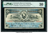 Guatemala Banco de Guatemala 5 Pesos 4.2.1915 Pick S143c PMG Very Fine 30.   HID09801242017  © 2020 Heritage Auctions | All Rights Reserved