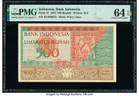 Indonesia Bank Indonesia 500 Rupiah 1952 Pick 47 PMG Choice Uncirculated 64 EPQ.   HID09801242017  © 2020 Heritage Auctions | All Rights Reserved