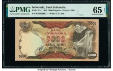 Indonesia Bank Indonesia 5000 Rupiah 1975 Pick 114 PMG Gem Uncirculated 65 EPQ.   HID09801242017  © 2020 Heritage Auctions | All Rights Reserved