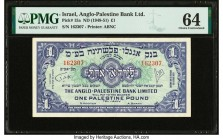 Israel Anglo-Palestine Bank Limited 1 Pound ND (1948-51) Pick 15a PMG Choice Uncirculated 64.   HID09801242017  © 2020 Heritage Auctions | All Rights ...