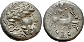 "EASTERN EUROPE. Imitations of Audoleon (2nd-1st centuries BC). Tetradrachm. ""Y auf Postament"" type.