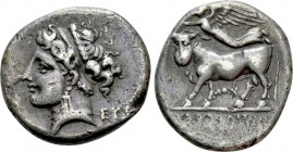 CAMPANIA. Neapolis. Didrachm (275-250 BC). 