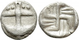 THRACE. Apollonia Pontika. Tritartemorion (Circa 494-470 BC). Reduced Milesian standard. 