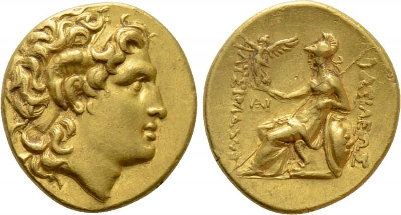 KINGS OF THRACE (Macedonian). Lysimachos (305-281 BC). GOLD Stater. Uncertain mi...