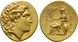 KINGS OF THRACE (Macedonian). Lysimachos (305-281 BC). GOLD Stater. Uncertain mint.