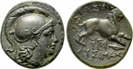 KINGS OF THRACE (Macedonian). Lysimachos (305-281 BC). Ae Unit. Lysimacheia. 