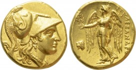 KINGS OF MACEDON. Alexander III 'the Great' (336-323 BC). GOLD Stater. Lysimachia (?).