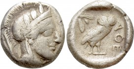 ATTICA. Athens. Drachm (Circa 454-404 BC). 