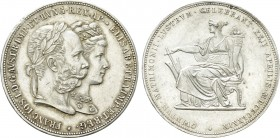 Austrian Empire. Franz Joseph I with Elisabeth (1848-1916). Doppelgulden (1879). Vienna. Commemorating the Royal Silver Wedding. 