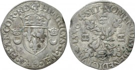 FRANCE. Royal. Henri II (1547-1559). Douzain aux croissants (1550). Rennes (?). 