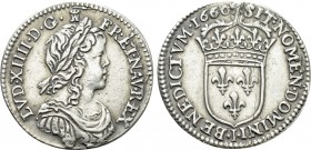 FRANCE. Louis XIV (1643-1715). 1/12 Ecu (1660-I). Limoges. 