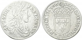 FRANCE. Louis XIV (1643-1715). 1/12 Écu (1661-I). Limoges. 