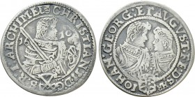 GERMANY. Saxony. Christian II with Johann Georg I and August (1591-1611). 1/4 Taler (1610-HvR). 