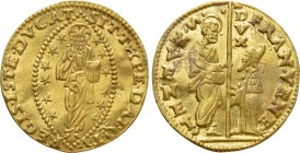 ITALY. Venice. Francesco Venier (1554-1556). GOLD Zecchino. 
