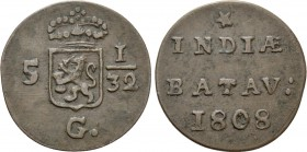 NETHERLANDS. Batavian Republic (1799-1806). 1/2 Duit (1808). 