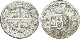 SPAIN. Philip V (First reign, 1700-1721). 2 Reales (1717-J). Segovia. 