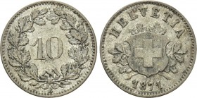 SWITZERLAND. Bern. 10 Rappen (1871-B). 