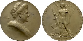 AUSTRIAN EMPIRE. Habsburg. Archduchess Isabella (1888-1973). Celebrating her Care during World War I. Ae Medal (1916) by Hartig. 