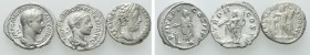 3 Roman Denarii. 
