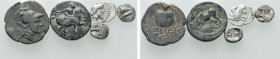 5 Greek Coins. 