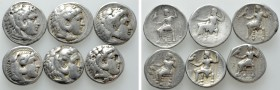 6 Tetradrachms of Alexander the Great. 