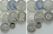 8 Modern Silver Coins.