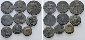 9 Roman Provincial Coins. 