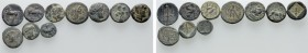10 Greek Coins. 