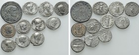 11 Roman Coins. 