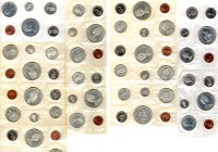 11 Coin Sets of Canada; 1964 and 1965. 