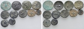 11 Greek Coins. 