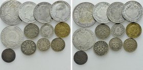 12 Coins of Austria and Switzerland. 