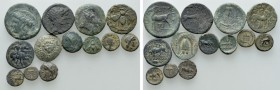 13 Ancient Coins. 