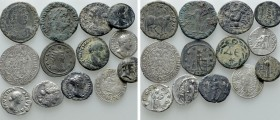 13 Roman and Modern Coins. 
