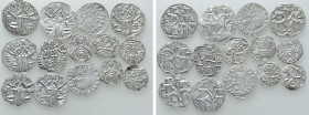 14 Medieval Coins of Bulgaria. 
