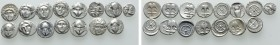 15 Greek Coins. 