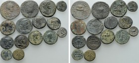 15 Roman Provincial Coins. 