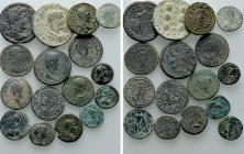 16 Roman Provincial Coins. 