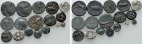 17 Greek Coins. 